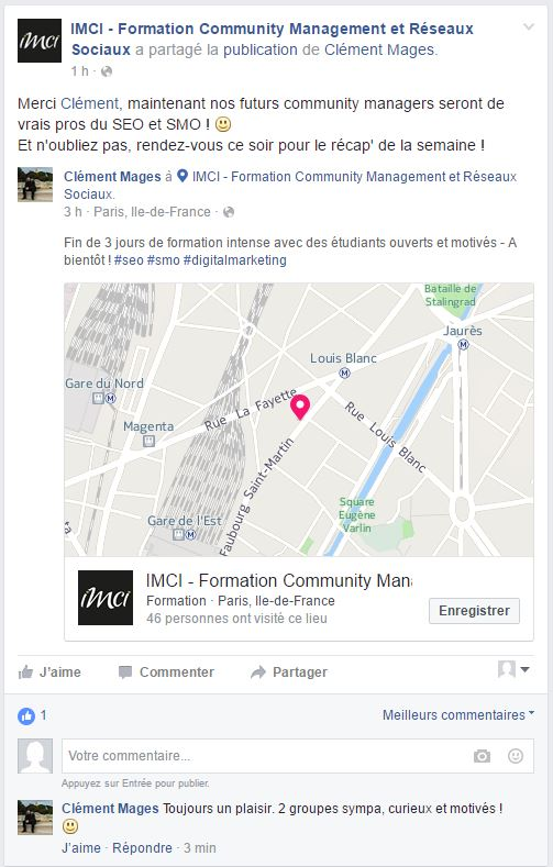 Formation Community Management SEO