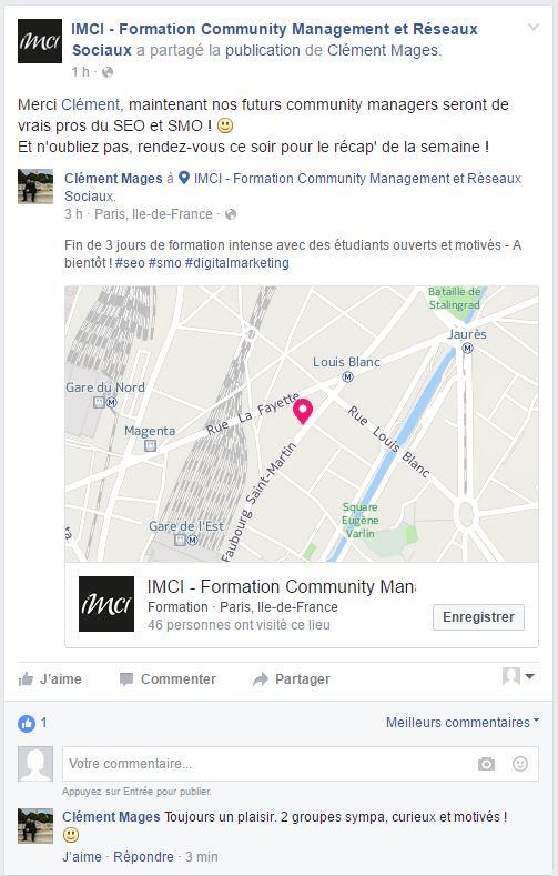 Formation Community Management SEO