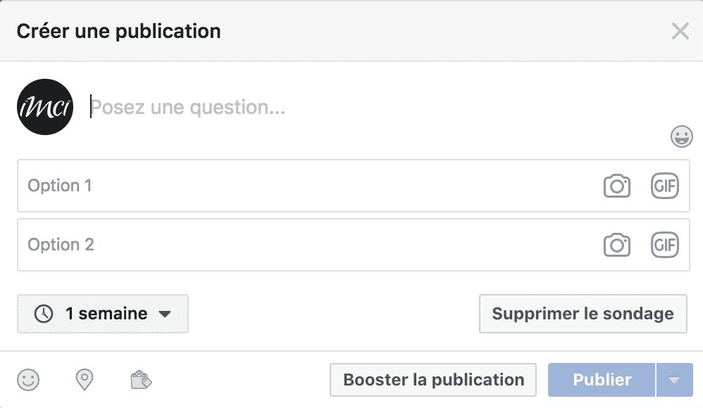 sondage facebook reseaux sociaux