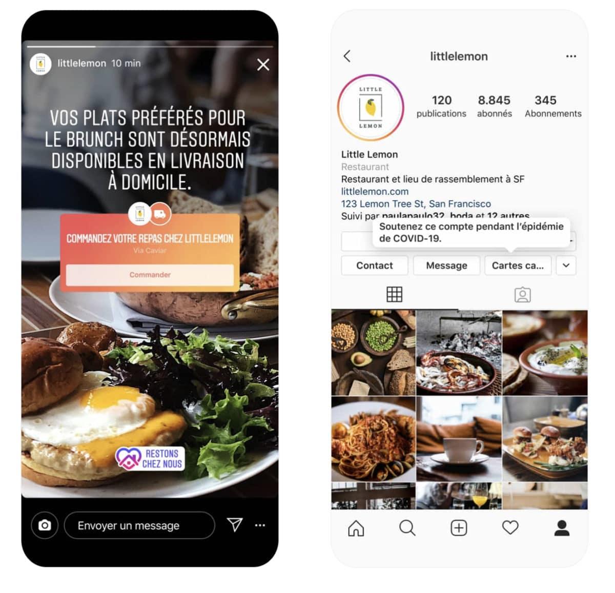 instagram repas sticker