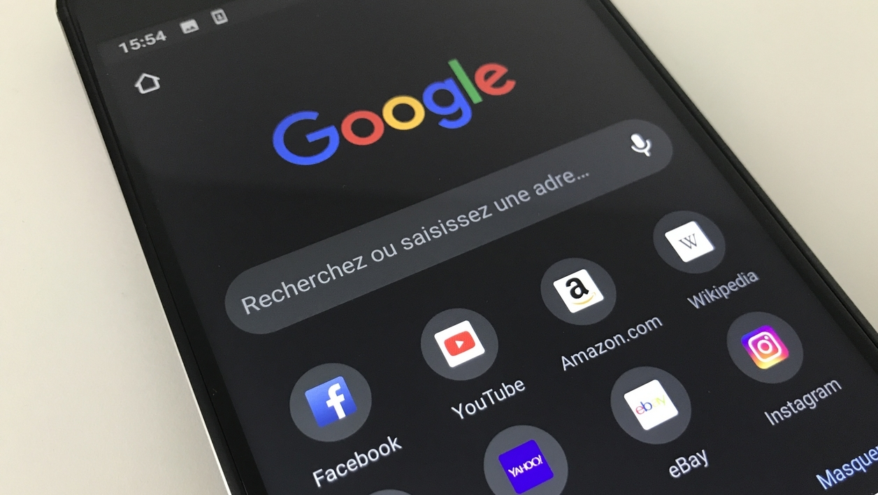 Google Chrome mode sombre mobile