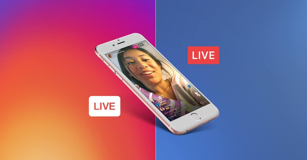instagram facebook live