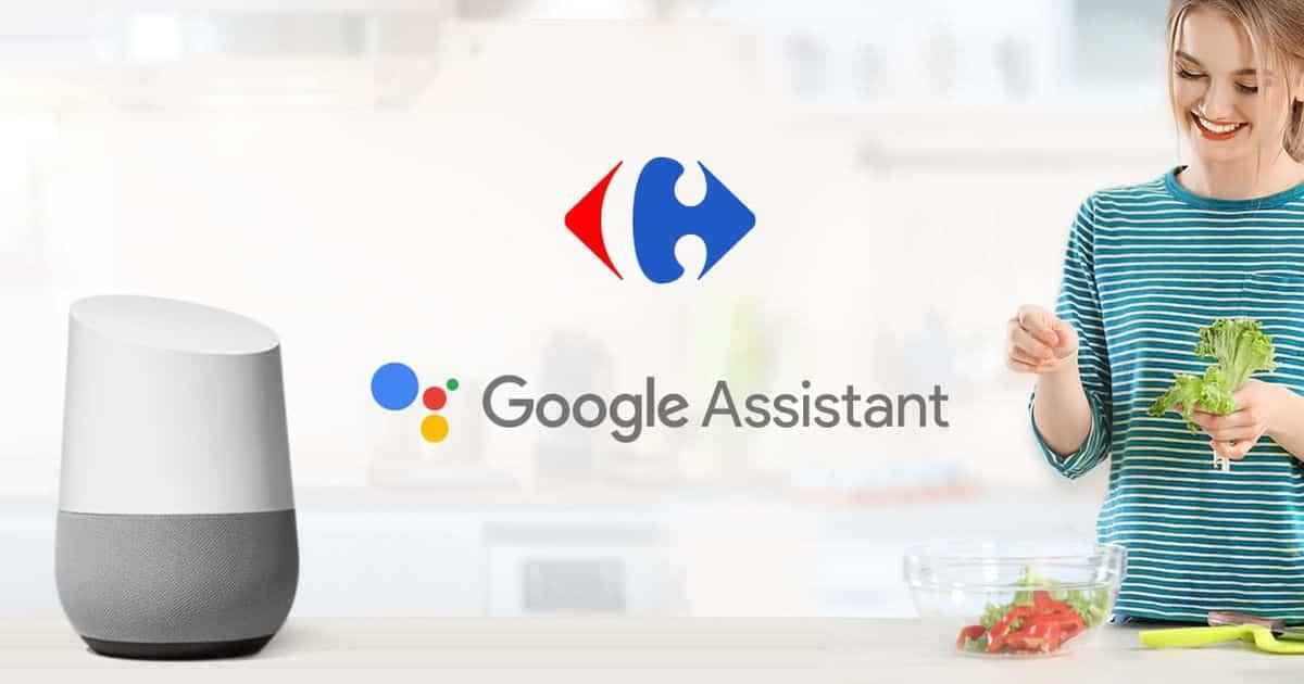google assistant carrefour