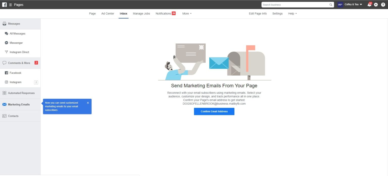 Facebook emailing pro