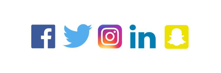 facebook twitter instagram linkedin snapchat
