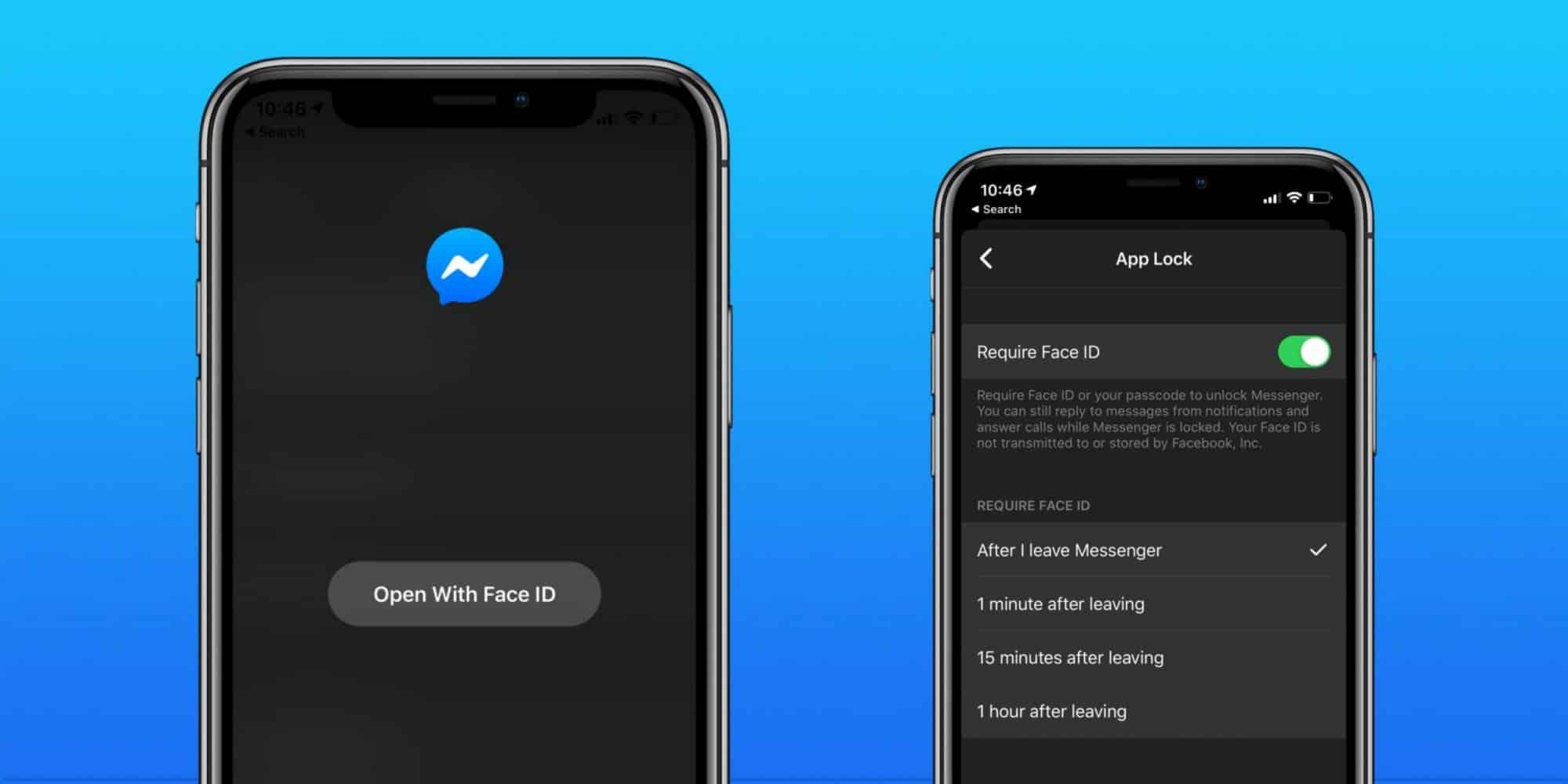 facebook messenger app lock