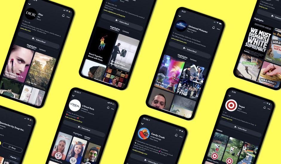 snapchat brand profils